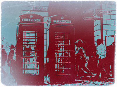 Telephone Photograph - London Telephone Booth by Naxart Studio