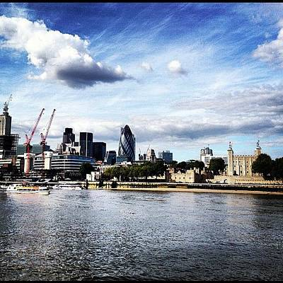 Abstract Skyline Wall Art - Photograph - #london #thames #skyline by Sam Davies-millar
