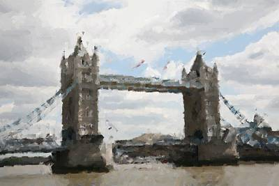 Digital Art - London Tower Bridge by Carrie OBrien Sibley