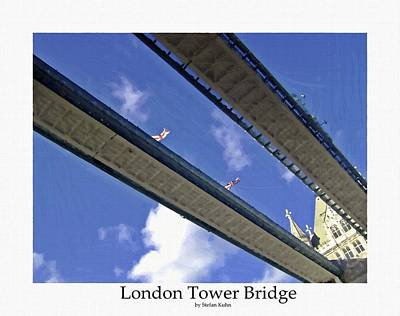Bw Painting - London Tower Brigde 4 by Steve K
