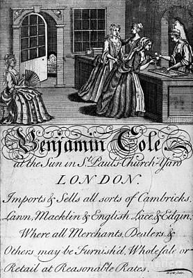 London: Trade Card. 1700s Art Print
