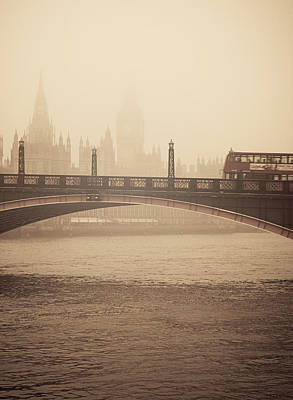 Photograph - London Traffic Fighting The Smog by Lenny Carter