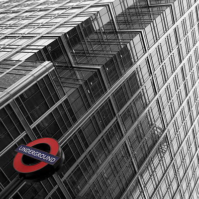 London Tube Photograph - London Underground by Nina Papiorek