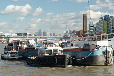 London Skyline Royalty-Free and Rights-Managed Images - Londone Skyline by Chris Day