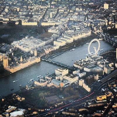 Airplane Photograph - #londoneye #bigben #thetimes #river by Abdelrahman Alawwad