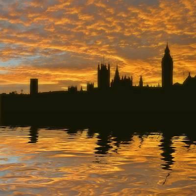 London's Burning Print by Sharon Lisa Clarke