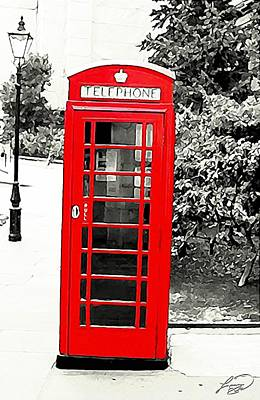 London's Red Booth Art Print by ABA Studio Designs