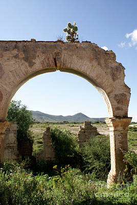 Photograph - Lone Archway Mineral De Pozos Mexico by John  Mitchell