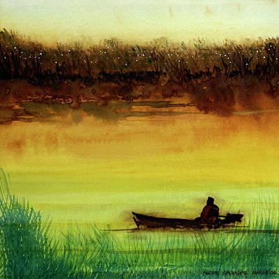 Lone Boatman Art Print
