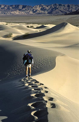 Photograph - Lone Hiker Death Valley by Joe  Palermo