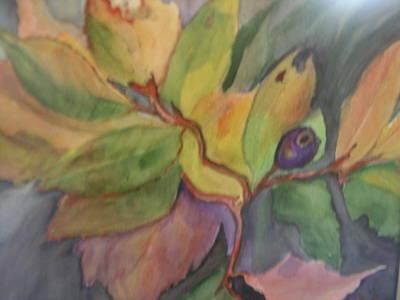 Lone Huckleberry Art Print by Mary Tevebaugh