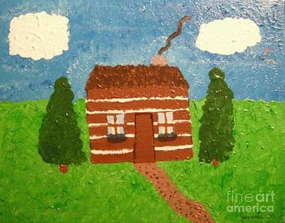 Lone Log Cabin Original by Jeannie Atwater Jordan Allen