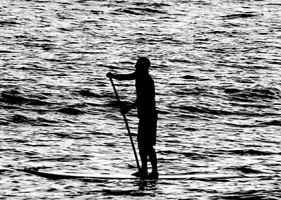Photograph - Lone Paddle Boarder  by Elizabeth  Doran
