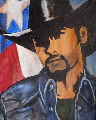 Painting - Lone Star Cowboy by Cheri Stripling