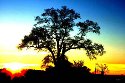 Art Print featuring the photograph Lone Tree At Sunrise by George Bostian