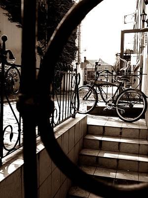 Lonely Bike Art Print by Birut Ces