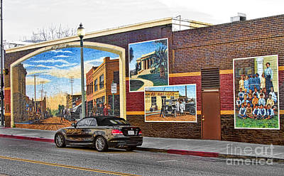 Old Town Santa Paula Mural Art Print