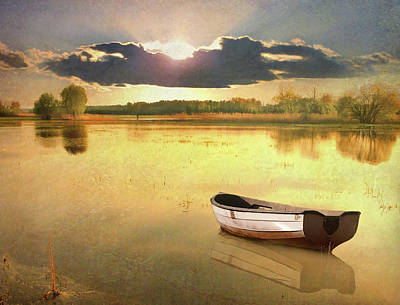 Alsace Photograph - Lonely Boat by JimPix