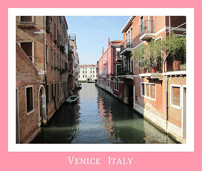 Photograph - Lonely Canal   Venice Italy by John Shiron