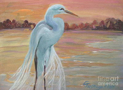 Painting - Lonely Egret by Gretchen Allen