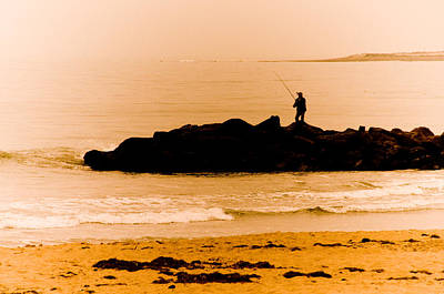 Photograph - Lonely Fisherman by Mickey Clausen