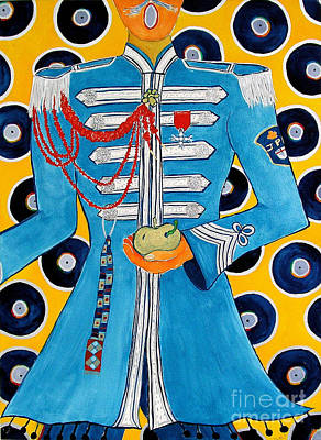 Sgt Pepper Painting - Lonely Hearts Club Member Paul by Barbara Nolan