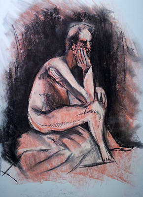 Drawing - Lonely  by John Jr Gholson