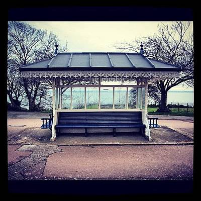 Victorian Wall Art - Photograph - Lonely Shelter #shelter #southendonsea by Suzie Attaway