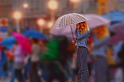 Photograph - Lonelyredhead In The Rain by Don Wolf
