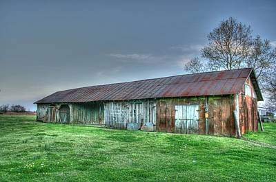 Shed Digital Art - Long Barn by Rick Ward