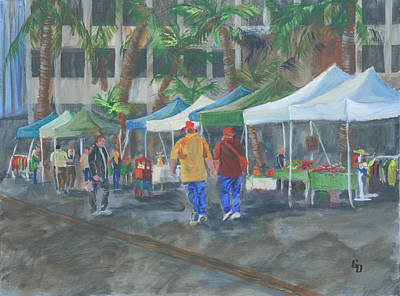 Painting - Long Beach Farmers Market by Gail Daley