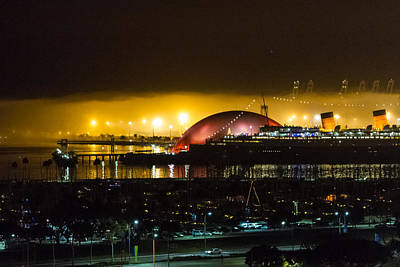 Photograph - Long Beach Queen Mary And Spruce Goose Dome by Dina Calvarese