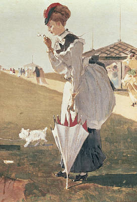 Long Branch Painting - Long Branch by Winslow Homer