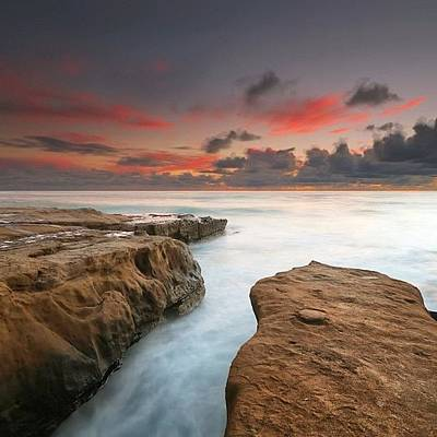 Photograph - Long Exposure Sunset Taken Just After by Larry Marshall
