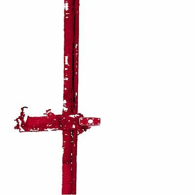 Long Lock In Red Art Print by J erik Leiff