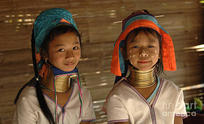 Hill Tribe Photograph - Long Neck Girls by Bob Christopher