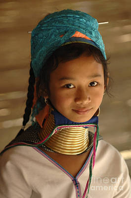 Hill Tribe Photograph - Long Necked Girl 2 by Bob Christopher