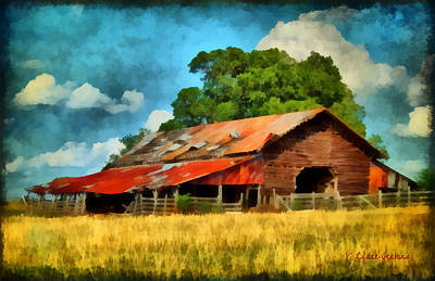 Art Print featuring the painting Long Road Barn by Lynne Jenkins