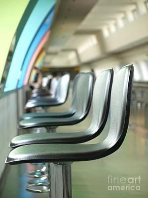 Foot Stool Photograph - Long Row Of Bar Stools by Yali Shi