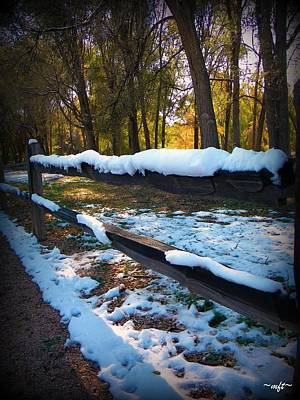 Art Print featuring the photograph Long Snow Fence by Michelle Frizzell-Thompson