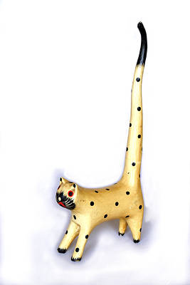 Long Spotty Cat Art Print by Kantilal Patel