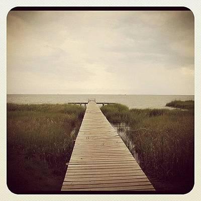 Marsh Photograph - Long Walk Off Short Pier by Kimberly Washington