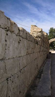 Photograph - Long Wall Leading To Olympic Stadium In Olympia Greece by John Shiron