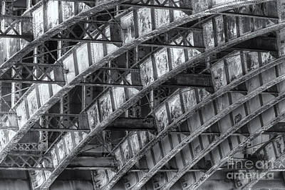 Boston Photograph - Longfellow Bridge Arches Iv by Clarence Holmes
