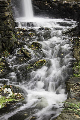 Art Print featuring the photograph Longfellow Grist Mill Waterfall by Betty Denise