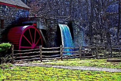 Longfellow Painting - Longfellow's Wayside Gristmill Painting 2 by Earl Jackson