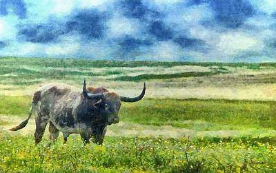 Painting - Longhorn Prarie by Jeffrey Kolker