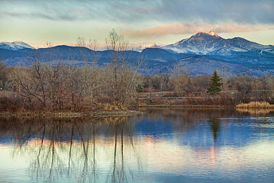 Longs Peak From Golden Ponds Art Print by James BO  Insogna