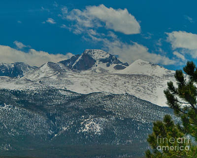 Photograph - Long's Peak by Harry Strharsky