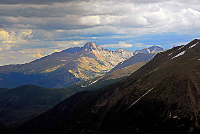 Photograph - Longs Peak In Summer by Robert Meyers-Lussier